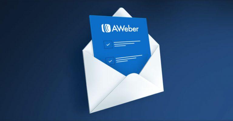 AWeber landing page