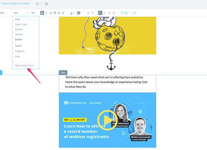adding-custom-fonts-getresponse-email-creator