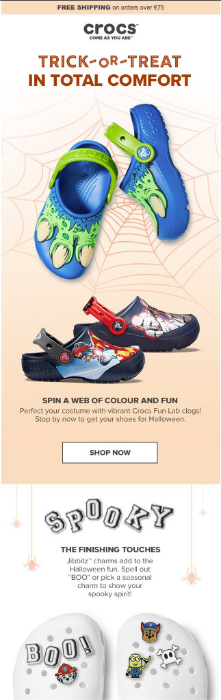 crocs-halloween-newsletter-idea