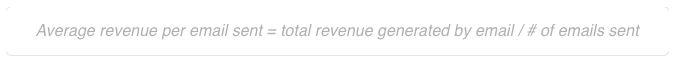 Average revenue per email rate