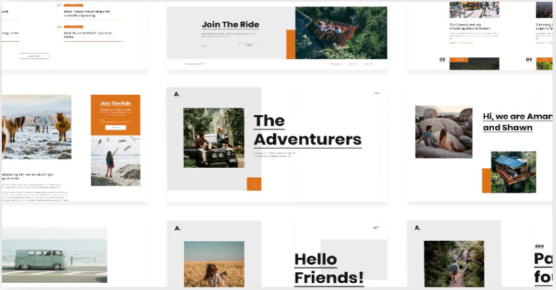 Monthly Template Kits #16: The Travel Blog Template Kit