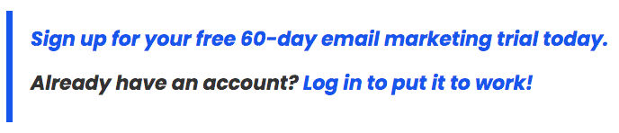 Sign up for your free 60-day trial