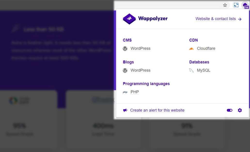 Wappalyzer-chrome-extension2
