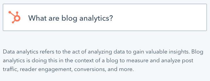What are blog analytics