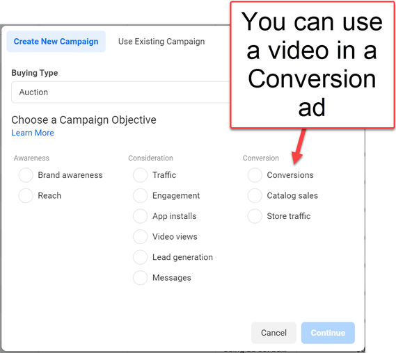 Facebook-Conversion-ads-with-Video