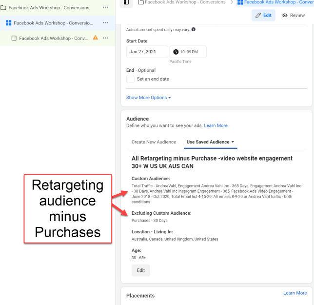 Retargeting-Audience-minus-Purchases