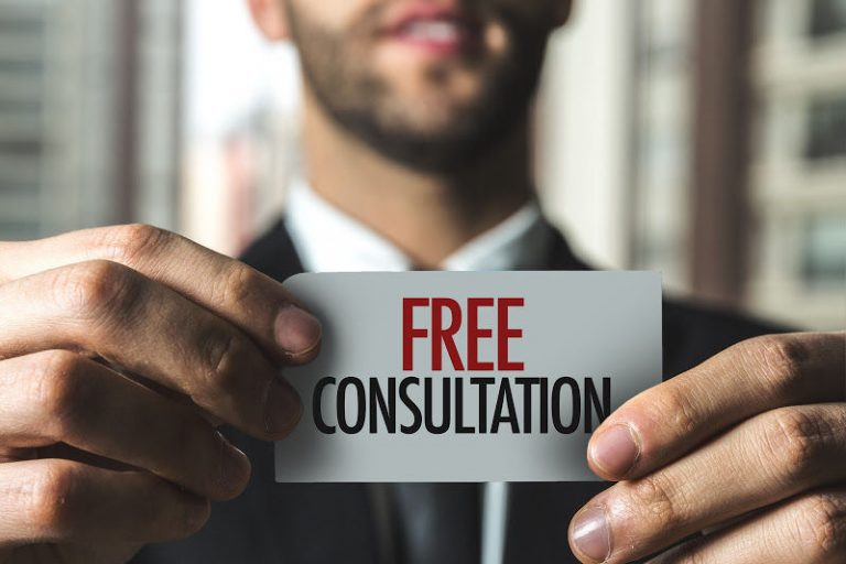 Free Consultation sign