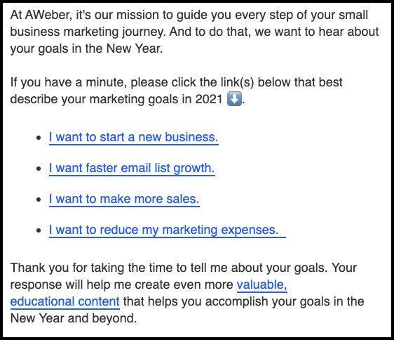 aweber-email-survey
