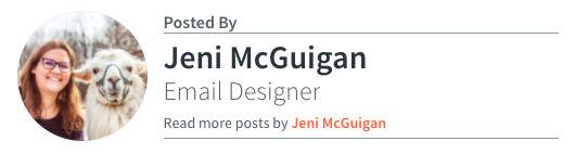 Jeni McGuigan - Email Designer
